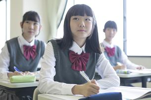 勉強する女子高生の写真素材 [FYI04627214]