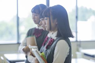 女子高生のポートレートの写真素材 [FYI04627231]