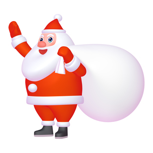 サンタクロースのマスコットキャラクター ゆるキャラ風 (1-2) のイラスト素材 [FYI04627431]