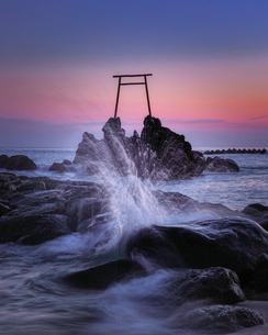 Torii guarding the seaの写真素材 [FYI04627619]