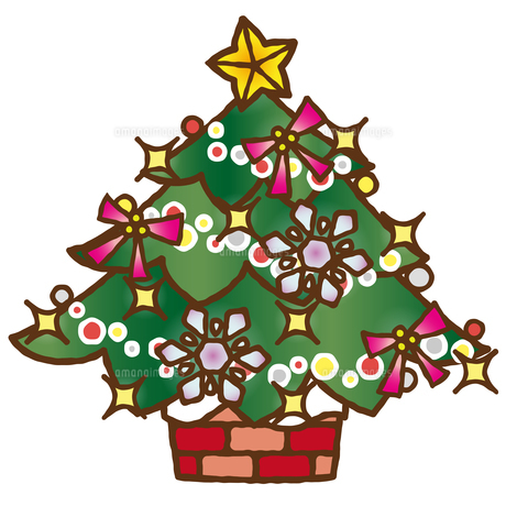 手描き風クリスマスツリーのイラスト素材 [FYI04627793]