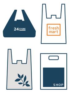 レジ袋-ショップ袋のイラスト素材 [FYI04627797]