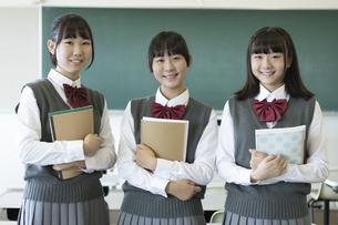 女子高生のポートレートの写真素材 [FYI04627832]