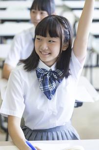 勉強する女子高生の写真素材 [FYI04627849]
