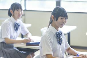 勉強する女子高生の写真素材 [FYI04627858]