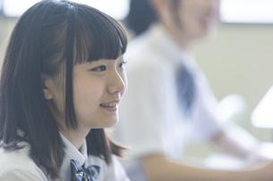 勉強する女子高生の写真素材 [FYI04627861]