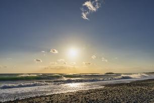 中田島砂丘からの夕日の写真素材 [FYI04628028]