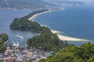 天橋立ビューランドから眺める日本三景「天橋立」の写真素材 [FYI04628559]