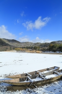 雪の広沢池の写真素材 [FYI04628800]