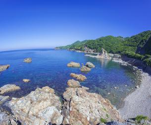 島根県 風景 海岸線と青空の写真素材 [FYI04628856]