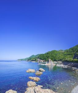 島根県 風景 海岸線と青空の写真素材 [FYI04628860]