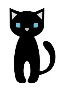 黒猫のイラスト素材 [FYI04629088]