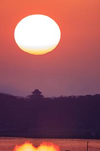 茨城県 霞ヶ浦と富士山の写真素材 [FYI04629217]