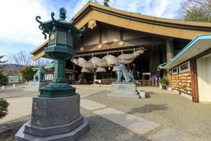 茨城県 出雲大社 拝殿の写真素材 [FYI04629389]