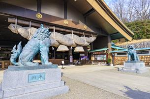 茨城県 出雲大社 拝殿の写真素材 [FYI04629390]