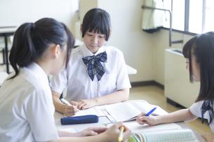 勉強する女子高生の写真素材 [FYI04629630]