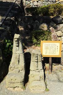 北陸 丸岡城・石の鯱鉾の写真素材 [FYI04629812]