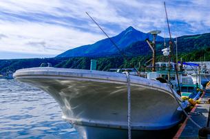利尻島の漁港の写真素材 [FYI04630129]