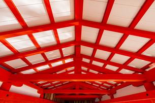 厳島神社 東廻廊の化粧屋根裏天井の写真素材 [FYI04631162]