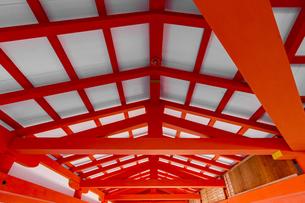 厳島神社 東廻廊の化粧屋根裏天井の写真素材 [FYI04631204]