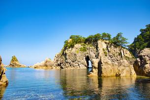 笹川流れ眼鏡岩の写真素材 [FYI04631247]