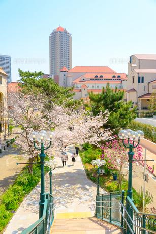 関西の風景 宝塚市の街並みと花のみちの写真素材 [FYI04631401]