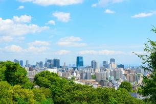 関西の風景 神戸市 会下山公園から都心の街並みの写真素材 [FYI04631404]