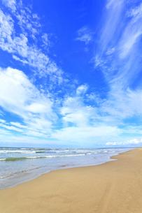 海と空に雲の写真素材 [FYI04631721]