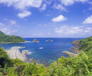 島根県 風景 海岸線と青空の写真素材 [FYI04631880]