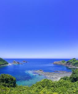 島根県 風景 海岸線と青空の写真素材 [FYI04631887]