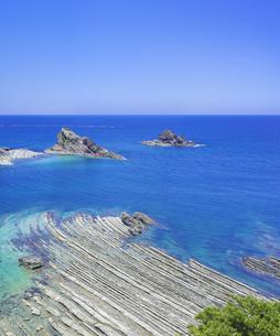 島根県 風景 海岸線と青空の写真素材 [FYI04631893]