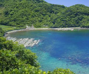 島根県 風景 海岸線と青空の写真素材 [FYI04631896]