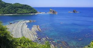 島根県 風景 海岸線と青空の写真素材 [FYI04631902]