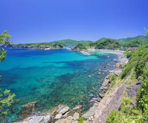 島根県 風景 海岸線と青空の写真素材 [FYI04631904]