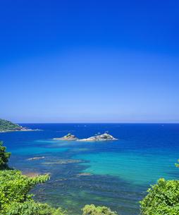 島根県 風景 海岸線と青空の写真素材 [FYI04631915]