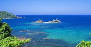 島根県 風景 海岸線と青空の写真素材 [FYI04631916]