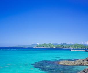 島根県 風景 海岸線と青空の写真素材 [FYI04631944]