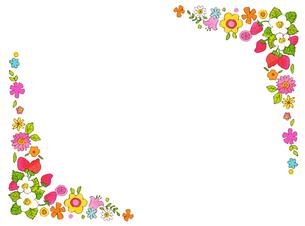春の花 フレームのイラスト素材 [FYI04632196]