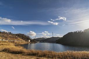 山梨 広瀬・琴川ダム 乙女湖の写真素材 [FYI04632391]
