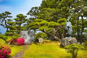 日和山公園の芭蕉像の写真素材 [FYI04632550]