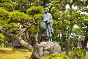 日和山公園の芭蕉像の写真素材 [FYI04632551]