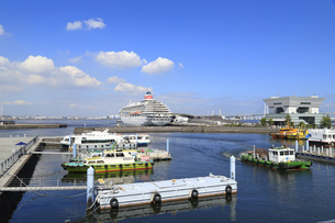 象の鼻パークから見る大さん橋とクルーズ船の写真素材 [FYI04633104]