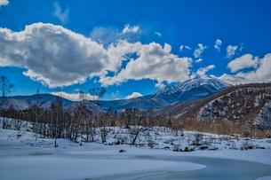 乗鞍高原の雪景色の写真素材 [FYI04633273]