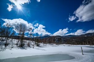 乗鞍高原の雪景色の写真素材 [FYI04633274]