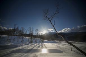 乗鞍 まいめの池 冬景色の写真素材 [FYI04633275]