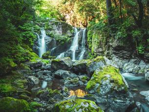 【徳島県 海部郡】 轟九十九滝の自然風景の写真素材 [FYI04633310]