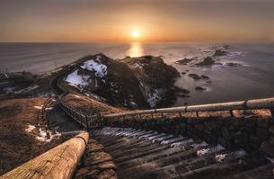襟裳岬の日の出の写真素材 [FYI04633404]