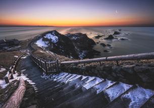 襟裳岬の夜明けの写真素材 [FYI04633407]