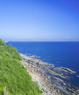 島根県 風景 海岸線と青空の写真素材 [FYI04633503]