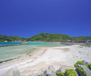 島根県 風景 海岸線と青空の写真素材 [FYI04633505]